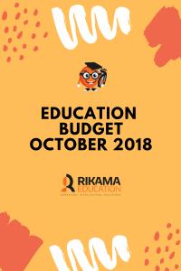 Education Budget October 2018